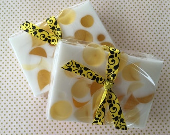 Honey Almond soap - glycerin soap, handcrafted soap