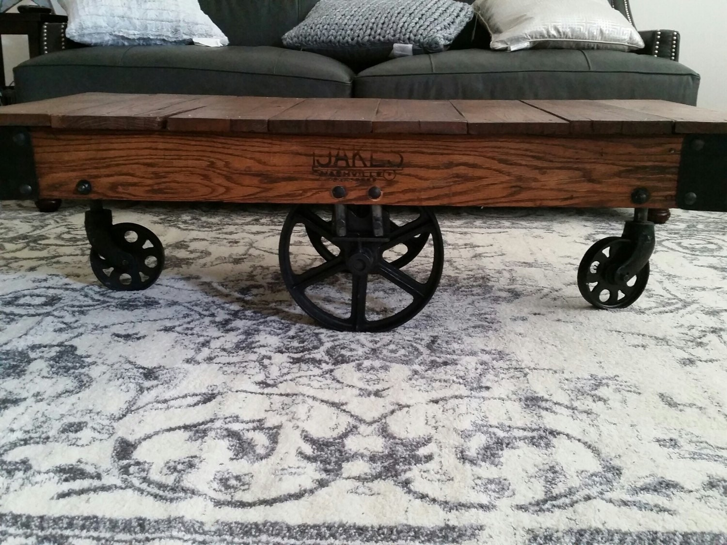 Jakes Warehouse Cart Coffee Table By 220Grit On Etsy