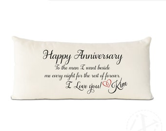 2nd anniversary cotton gift, gift for him - Cotton gift for your 2nd Anniversary - Give your heart on cotton with your personalized name