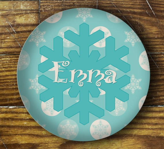 Personalized Dinner Plate or Bowl - Frozen Inspired