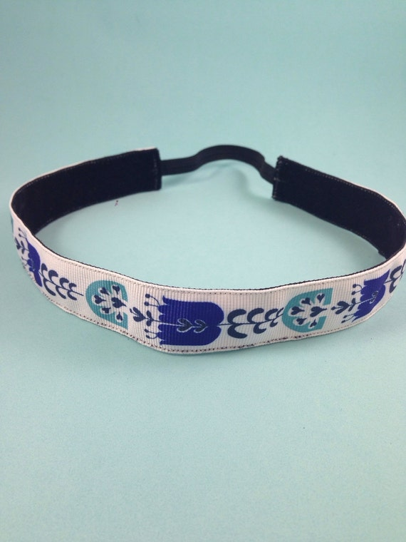 Dutch flower pattern non-slip headband for everyday and active wear