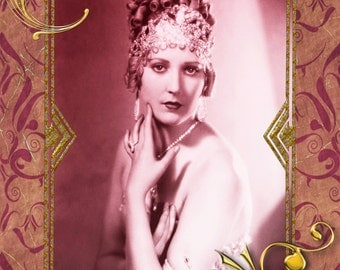 Deco Flapper Collage.