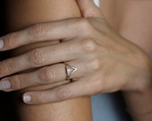 Diamond Wedding Set With Curved Diamond Band,14k SOLID GOLD