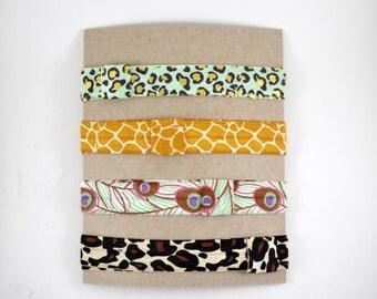 Soft Plain Elastic HEADBANDS or HAIR TIES- Animal Prints Stocking Stuffers - Baby Headband - Toddler Headband - Adult Headband