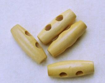 Wooden toggles. Set of 4. LWTR001