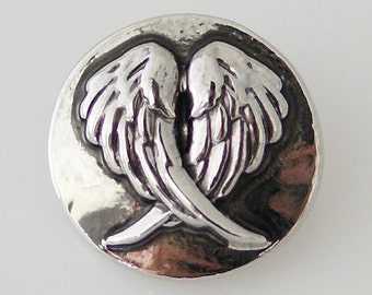 KB5245 Antiqued Silver Angel Wings