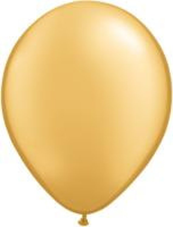 Gold balloons, six gold balloons, big balloons, party balloons
