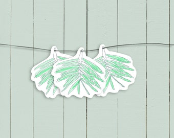 Fir Tree Christmas garland, Paper chain, Christmas banner, Pine tree decoration