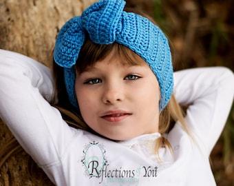 Crochet Bow ear warmers/ Crochet bow headwraps/ crochet bow headband