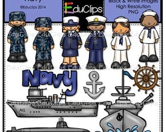 Navy Clip Art Bundle