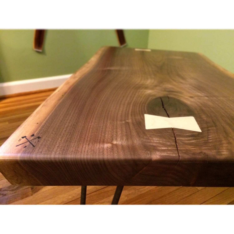 Black Live Edge Coffee Table: SOLD // Live Edge Black Walnut Slab Coffee Table // Reclaimed