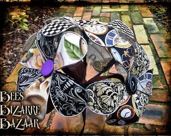 Steampunk Fabric Flowers - Alternative Unusual Flowers - Wedding, Gift, House