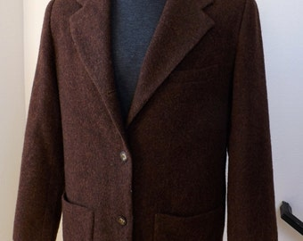 Eddie Bauer Brown Wool Jacket/Blazer Woman's Size M 1980's