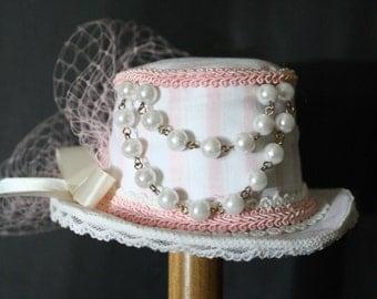 Baby Pink Sweet Lolita Mini Top Hat