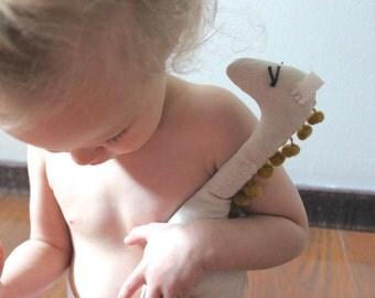 Children's Stuffed Giraffe, Natural Organic Cotton, handmade, all-natural, toy, boys and girls