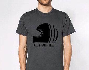 KillerBeeMoto: Vintage Cafe Racer Style Racing Helmet Short And Long Sleeve Shirts