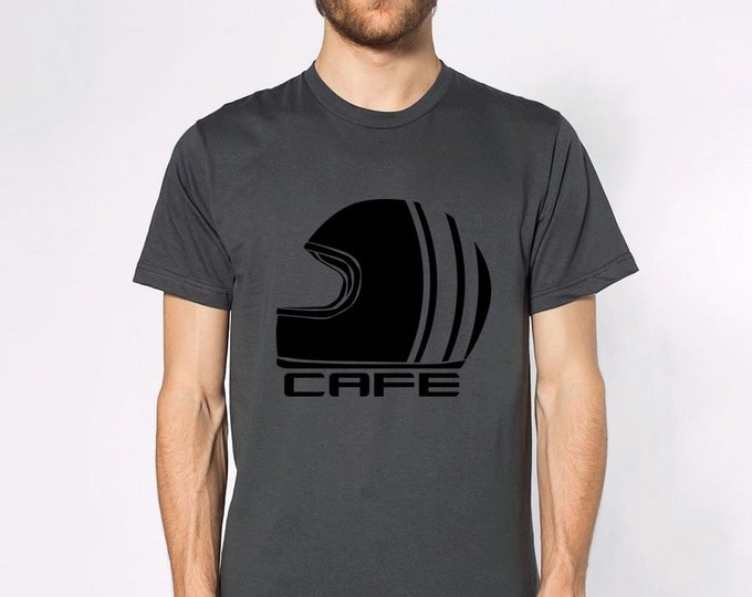 KillerBeeMoto: Vintage Cafe Racer Style Racing Helmet Short And Long Sleeve Shirts