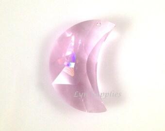 8816 ROSALINE 30mm Swarovski Crystal Strass Crescent Moon Large Pendant