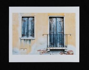 Venice Balcony and window -Fine art print