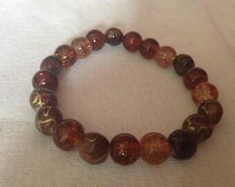 Beautiful browns bead bangle