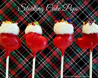 STOCKING cake pops