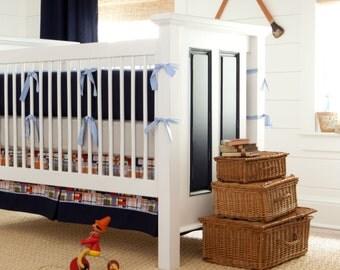 Boy Baby Crib Bedding: Coastal 4-Piece Skirt and Sheet Set by Carousel Designs