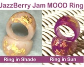MOOD Ring, JazzBerry Jam Resin Ring, Solar Ring, Color Shift Ring, 2015 Fashion Jewelry Trending, ResinHeavenUSA