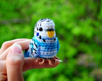 Amigurumi Budgie (crochet budgerigar)