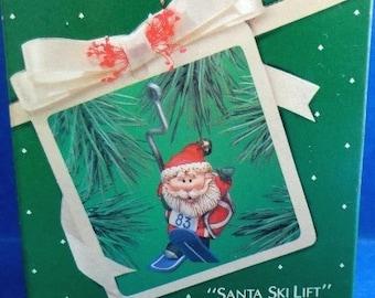 1983 Santa Ski Lift Hallmark Retired Ornament