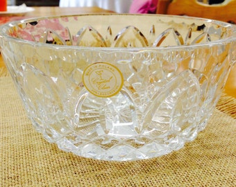 Beautiful Vintage Crystal Bowl - Catherdral Gothic Cut from Poland