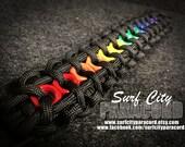 LGBT Pride Rainbow Paracord Hex Nut Bracelet
