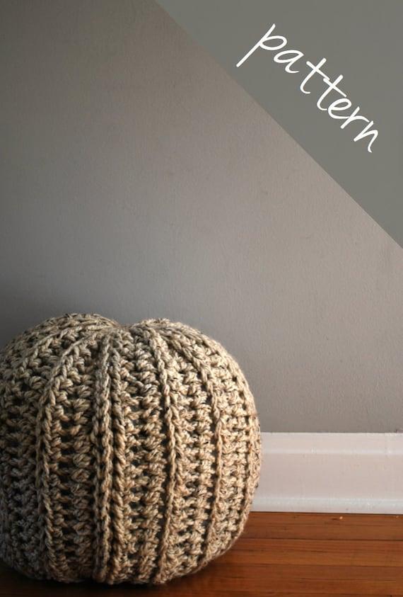 Crochet pattern crochet pouf ottoman floor pillow intermediate from ashleylillishandmade - Intermediate floor casting ...