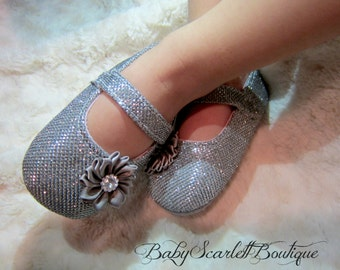 Gray Baby Girl Shoes,Toddler Shoes