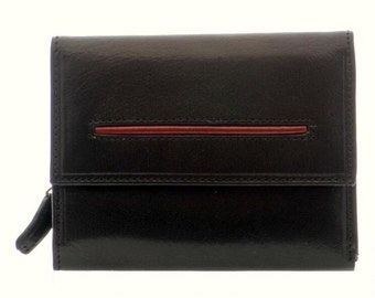 Women's Duo Color Leather Wallet (p-1015)