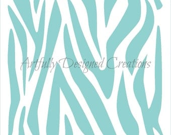 Zebra Background Stencil