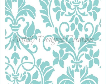 Damask Background Stencil