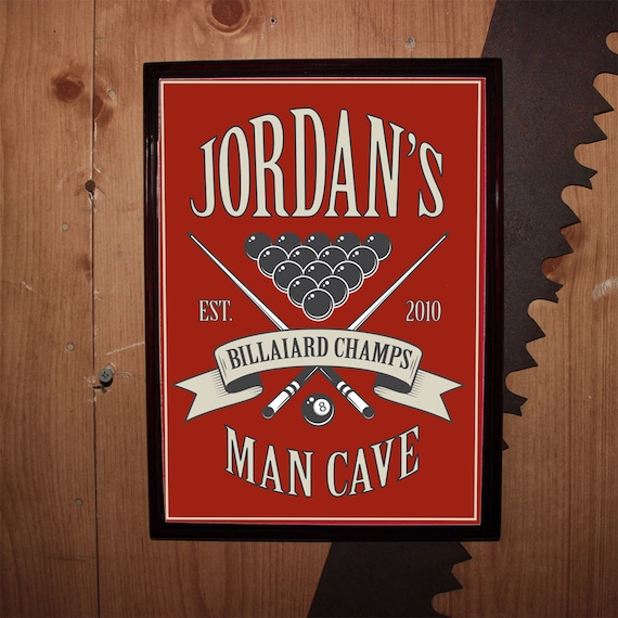 Man Cave Christmas Ideas : Items similar to custom personalized bar sign