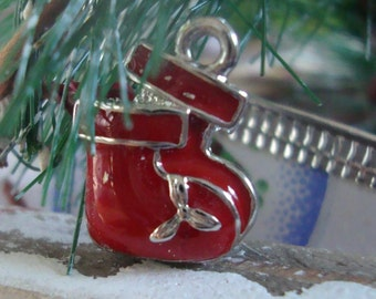 Christmas baby bootie charm,baby charm