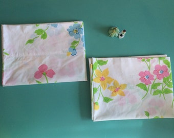 Items Similar To Flannel Pillowcase Blue Pink Floral On Etsy