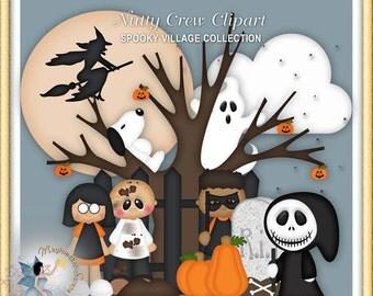 Halloween Clipart, Nutty Crew
