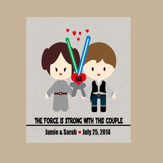 Wedding Gift - Star Wars Anniversary Gift - Geek Wedding Gift - Nerd ...