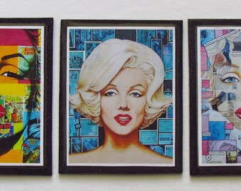 Marilyn Art Magnets