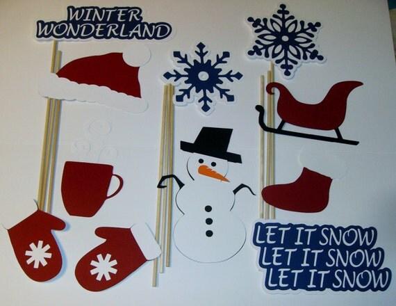 Winter Wonderland Photo Booth Props