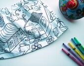 Skirt - Girls Handmade Skirt - Doodle Skirt by Little Squish