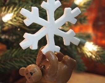 Snowflake Teddy Bear Ornament