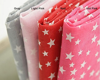 Gauze Fabric Star in 4 Colors By The Yard