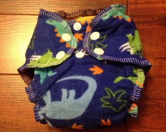 Newborn basic flannel fitted cloth diaper