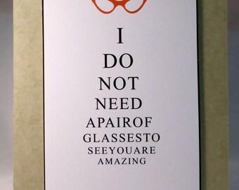 Optical chart card