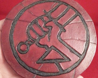 HellBoy B.P.R.D. leather patch 3 inches