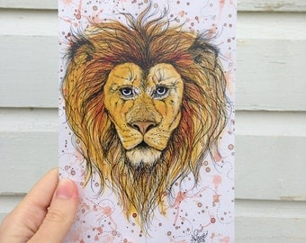 "Greeting Card - ""Lion"""